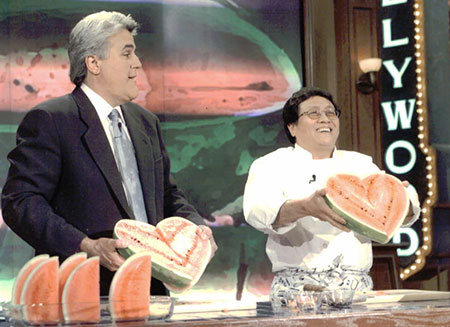 Chef Joseph Poon with Jay Leno on The Tonight Show